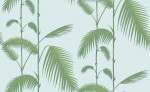 Tapeta Cole and Son Palm Leaves Green/Sky Blue