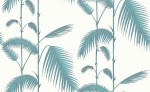 Tapeta Cole and Son Palm Leaves Teal/White