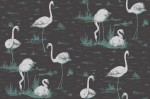Tapeta Cole and Son Flamingos Silver/Charcoal