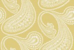 Tapeta Cole and Son Rajapur Flock White/Yellow