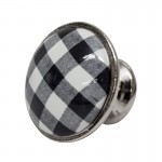 Gałka Plaid Black