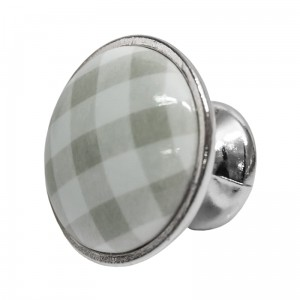 Gałka Plaid Grey