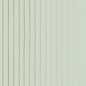 Tapeta Cole and Son College Stripe Mint/Gold