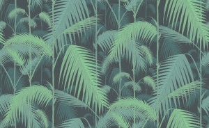 Tapeta Cole and Son Palm Jungle Emerald/Navy