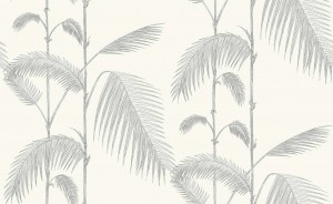 Tapeta Cole and Son Palm Leaves Soft Grey/White