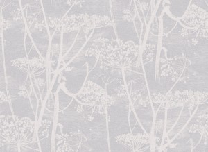 Tapeta Cole and Son Cow Parsley White/Soft Grey