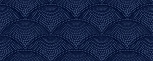 Tapeta Cole and Son Feather Fan Navy/Navy