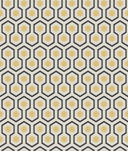 Tapeta Cole and Son Hicks' Hexagon Soft Olive/Gold/Charcoal