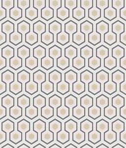 Tapeta Cole and Son Hicks' Hexagon Beige/Gold/Charcoal
