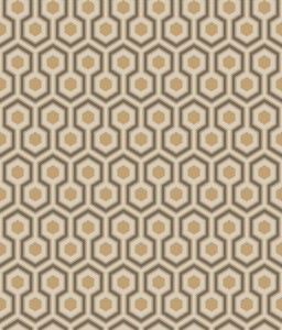 Tapeta Cole and Son Hicks' Hexagon Beige/Copper/Charcoal