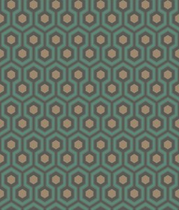 Tapeta Cole and Son Hicks' Hexagon Teal/Bronze/Soot