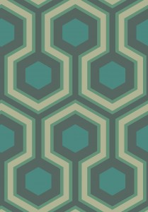 Tapeta Cole and Son Hicks' Grand Silver/Teal/Dark Viridian