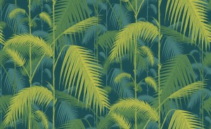 Tapeta Cole and Son Palm Jungle Punchy Petrol/Lime