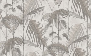 Tapeta Cole and Son Palm Jungle Taupe/Soft Grey