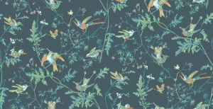 Tapeta Cole and Son Hummingbirds Navy/Multi colour