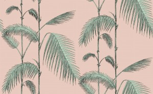 Tapeta Cole and Son Palm Leaves Mint/Pink