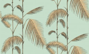 Tapeta Cole and Son Palm Leaves Yellow/Mint