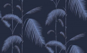 Tapeta Cole and Son Palm Leaves Ink/Violet