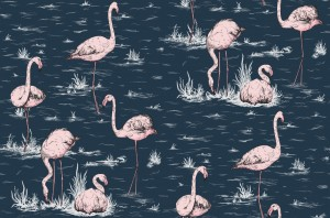 Tapeta Cole and Son Flamingos Pink/Ink