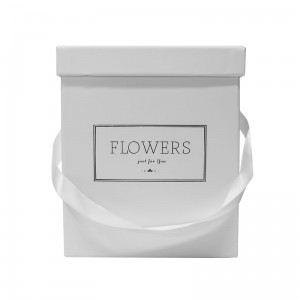 Flowerbox White Square
