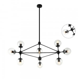 Lampa Bilbao Black Clear_10