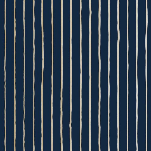 Tapeta Cole and Son College Stripe Navy/Gold