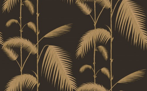Tapeta Cole and Son Palm Leaves Gold/Charcoal