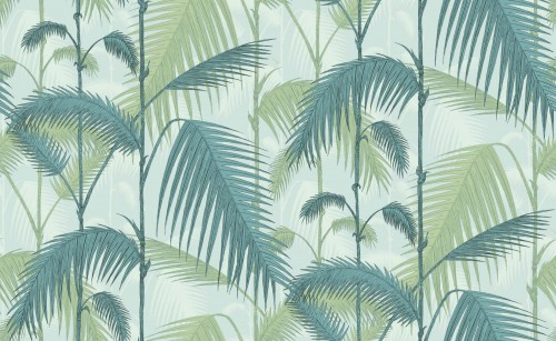 Tapeta Cole and Son Palm Jungle Green/Soft Blue